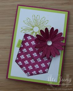 Stempelset Gänseblümchengruß mit passender Handstanze Gänseblümchen