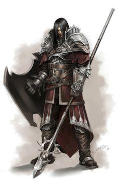 Human Knight Spear Shield