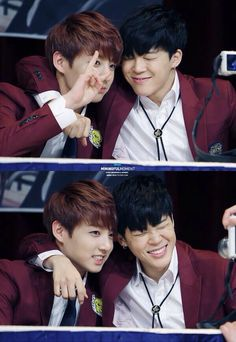 Jimin and Jungkook looking cute