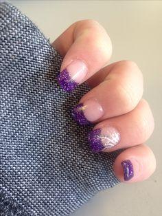 Purple nails!! #purple #nails #design