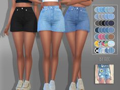 -Sunflower Denim Jeans Shorts 9094 available in 35 colours and the others featuring ripped,striped and some floral,clouds and fruit patches and patterns). Found in TSR Category 'Sims 4 Female Everyday' The Sims 4 Pc, Sims Four, Sims 4 Mm, Sims 4 Mods Clothes, Sims 4 Clothing, Baby Set, Cap Baby, Denim Jeans, Ripped Jean Shorts