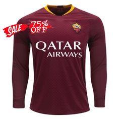 2018-19 Cheap Jersey AS Roma Home LS Replica Soccer Shirt  DFC122  883c6219c