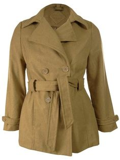 Jou Jou Juniors Wool Blend Belted Peacoat XL Camel ** Want to know more, click on the image.