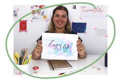 J'apprends le Brush Lettering | Les atelier en ligne du Studio Lettering, Punctuation, Learning Shapes, Writing Words, Pretty Cards, Fishing Line, Drawing Letters, Brush Lettering