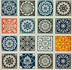 Pretty tiles pattern Stencil Painting, Ceramic Painting, Mandala Design, Mandala Art, Tile Patterns, Textures Patterns, Decoupage, Painted Ceramic Plates, Pewter Art