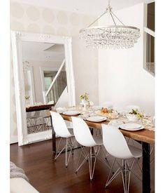 Nice -Spiegel mit weißem Barock-Rahmen