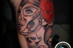 Muerto Tattoo is an amazing tattoo idea always. A great realistic tattoo created by Tattoo Artist Manos