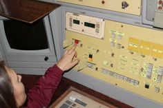 Музей РВСН, Командный пункт, красная кнопка отмены пуска.