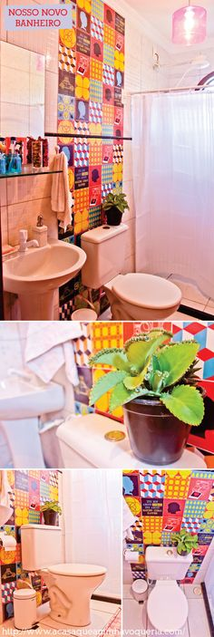 colourfull bathroom