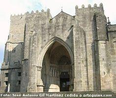 Fachada de la catedral de Tui, Pontevedra --> http://www.arteguias.com