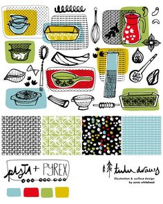 Bolt fabric design and coordinates for Lila Rogers Make Art That Sells course. Make Art, How To Make, Surface Design, Fabric Design, Drawings, Illustration, Illustrations, Drawing, Portrait