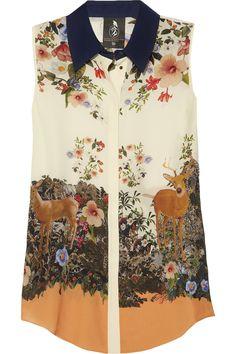 Mother of Pearl Umiko floral-print silk crepe de chine top NET-A-PORTER.COM