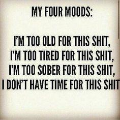 My Four Moods❤❤❤❤