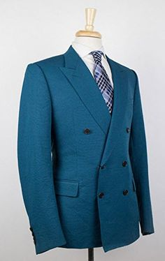 Brioni Penne Blue Wool Double Breasted Sport Coat Blazer Size 58 ...