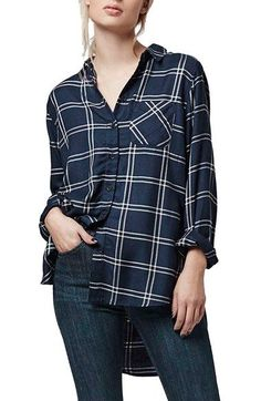 Topshop Check Oversize Shirt available at #Nordstrom