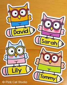 These fun owl name tags and labels will look fantastic in your classroom! This set is so versatile because you can make any labels that you want with the included blank labels and editable PowerPoint file. By Pink Cat Studio