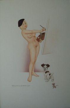 Archie Dickens - Artiste, in craig macmillan's 02 PinUps - Calendar Art Comic Art Gallery Room Window Art, Pin Up Art, Little Dogs, Archie, Erotic Art, Pin Up Girls, Art Boards, Tinkerbell, Tinker Bell