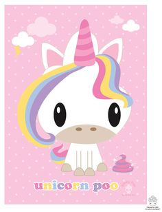 Unicorn Poo 5x7 Mini Print by BoredInc on Etsy, $6.00