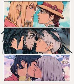 """My Howl and Sophie. Manga Anime, Film Anime, Anime Couples Manga, Anime Art, Anime Girls, Manga Girl, Studio Ghibli Art, Studio Ghibli Movies, Hayao Miyazaki"