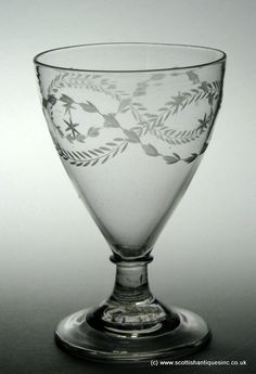 SOLD- Georgian Engraved Rummer c1790