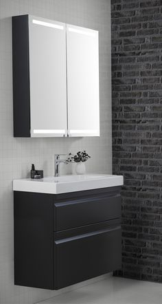 Mini Menuet porcelain basin is perfect for shower rooms and bathrooms where space is at a premium.