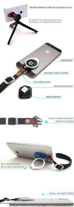 The Linkmount System Smartphone Enhancement by PLUST, A Design Firm — Kickstarter  as soon as I can spare 40 bucks I am going to contribute to this campaign cuz dang : that's an accessory that I'd use
