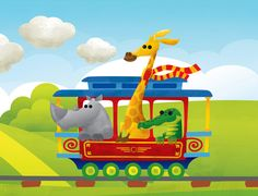 Children's Book Illustration - Doggy Train by Gastón Márquez, via Behance