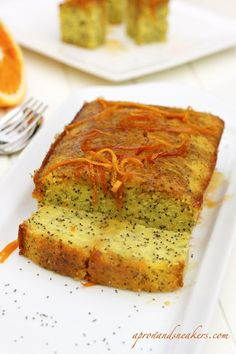 Orange Poppyseed Cake Ingredients: Serves 8 - 10 in a 20 cm. round baking pan Cake: cup poppy seeds cup milk 200 g. butter, softened 1 tablespoon o Quick Bread Recipes, Sweet Recipes, Cooking Recipes, Citrus Recipes, Loaf Recipes, Ww Recipes, Cake Recipes, Orange Poppy Seed Cake, Poppy Cake