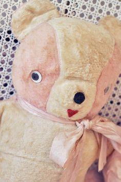 Vintage pink teddy bear