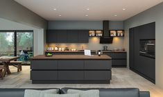 Zurfiz by BA Components. Contemporary Supermatt Graphite Zurfiz Kitchen by BA. Find your local BA Components retailer today. The post Zurfiz by BA Components. Contemporary Supermatt Gr… appeared first on Best Pins for Yours. Modern Grey Kitchen, Grey Kitchen Designs, Kitchen Room Design, Contemporary Kitchen Design, Grey Kitchens, Minimalist Kitchen, Home Decor Kitchen, Kitchen Layout, Interior Design Kitchen