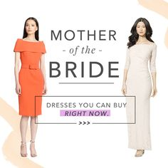 Brides.com: . Attention moms! Your daughter (or son's) big day is fast approaching, and while you most definitely need to let the bride shine, your child's wedding day is one of the most important events in your life. So make sure to mark the moment by wearing a mother-of-the-bride dress that's fashionable and flattering.  And while your look should no doubt complement the wedding's vibe, MOBs aren't restricted to traditional dresses. In fact, your ensemble should reflect your personal style…