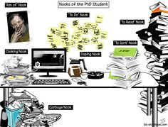 PhD cartoon from Phdelirium/ Nooks of the PhD student