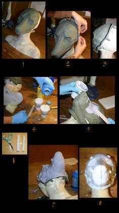 Mask making tutorial - molding silicone full head cast. Bu Qarrezel