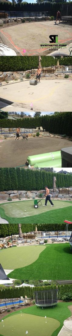 How to install putting green   synthetic turf grass