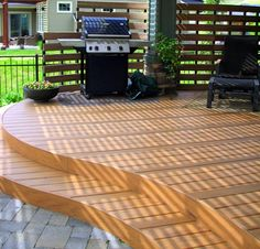composite deck designs | Composite Decking - Landscaping Network  I love this!!