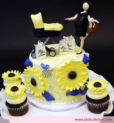 @ Erin Miller, if you have another :) You may love this cake idea Cupcake Topper with Sunflower Cupcakes Baby Carriage