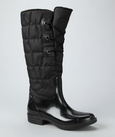 Look what I found on #zulily! Black Quilted Rain Boot by Capelli New York #zulilyfinds > this looks like a nice warm waterproof/snow boot!