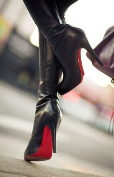 Louboutin Leather Boots ♥