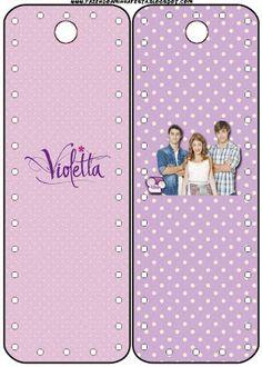 Violetta – Kit Completo com molduras para convites, rótulos para guloseimas, lembrancinhas e imagens!  Fazendo a Nossa Festa