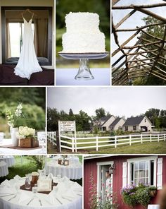 Cake stand and wooden box as a centerpiece