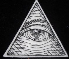 Embroidered Eye of Providence iron on patch by HeatherOstrow, $4.50