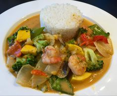 Rezept Rotes Thai-Curry mit Garnelen und knackigem Gemüse von Chris76 - Rezept der Kategorie Hauptgerichte mit Gemüse