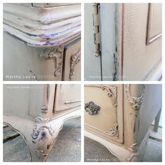 Antiqued, glazed furniture with Annie Sloan Coco paint (but Behr Ethiopia is a latex paint match to ASCP Coco).