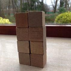 Bouwen met kubus en halve kubus. 3.