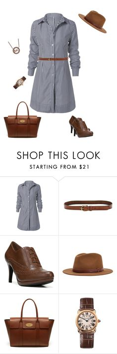 """""""Untitled #256"""" by amea412 ❤ liked on Polyvore featuring Banana Republic, LifeStride, Brixton, Mulberry, Cartier and Michael Kors"""