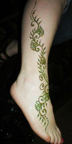 Leg vine - green glitter