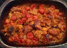 Pampered Chef Stoneware, Pork Stew, Tupperware, Paella, Food And Drink, Low Carb, Chicken, Meat, Ethnic Recipes