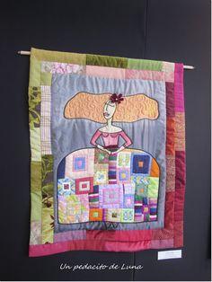 "Un pedacito de Luna: ""Variétés"" Family Tree Quilt, Prayer Flags, Bird Tree, Fabric Dolls, Jewellery Display, Embroidery Stitches, Ideas Para, Diaper Bag, Shabby Chic"