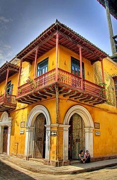 Lugares para hospedarse en barrio antiguo Cartagena, Colombia