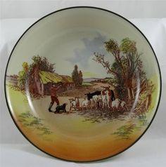 VINTAGE ROYAL DOULTON seriesware breakfast bowl - RUSTIC ENGLAND - D6297/12